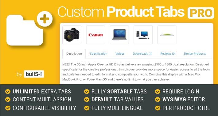 Custom Product Tabs PRO / Unlimited Tabs