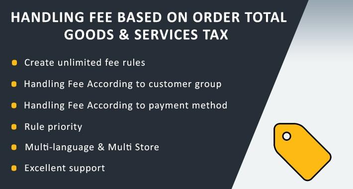 Handling Fee Based On Order Total