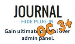 JOURNAL Hide Admin Panel / Menu Plugin OC3+