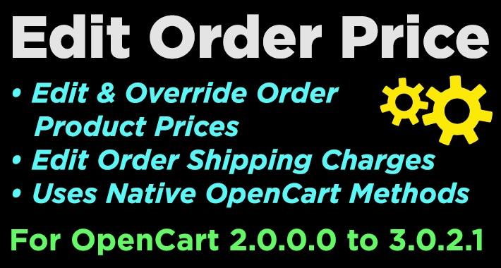Edit Order Price