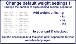 Change default weight settings, separators, add ..