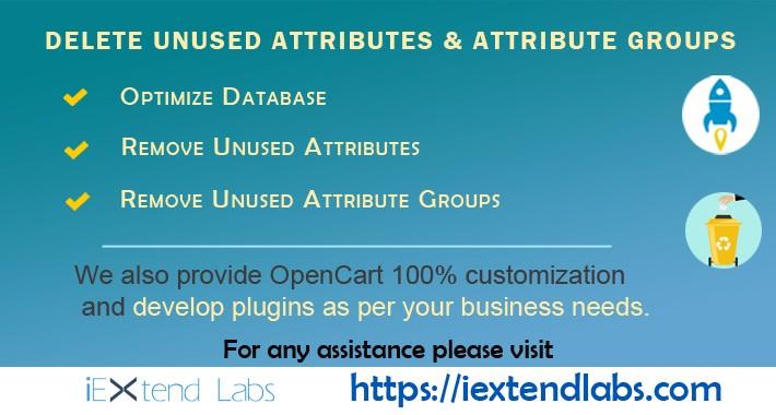 Delete Unused Attributes and Attribute Groups