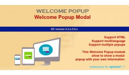 Welcome PopUp HTML based