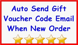 Auto Send Gift Voucher Code Email When New Order