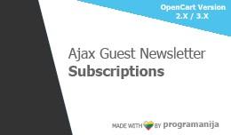 Ajax Guest Newsletter Subscriptions