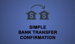 Simple Bank Transfer (Payment) Confirmation FORM