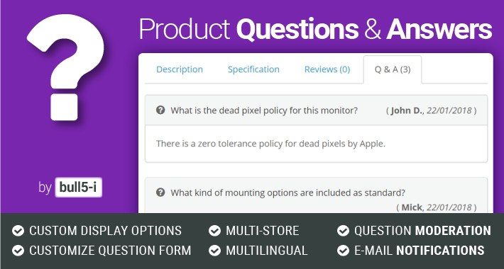 Opencart Product Questions Answers Ask A Question