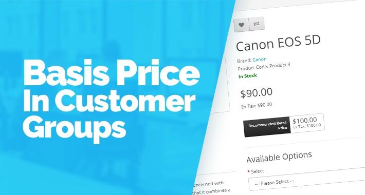 Basic Price In Customer Groups