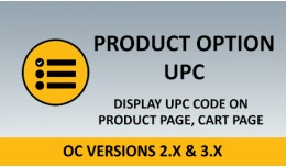 Product Option UPC