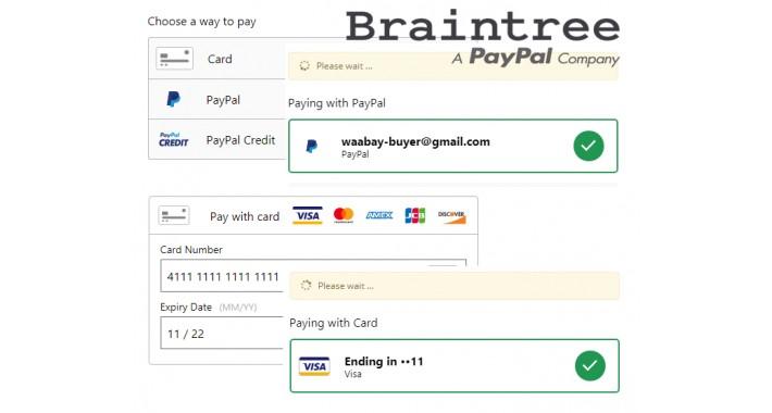 OpenCart - Braintree