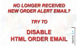 Disable HTML Order Email