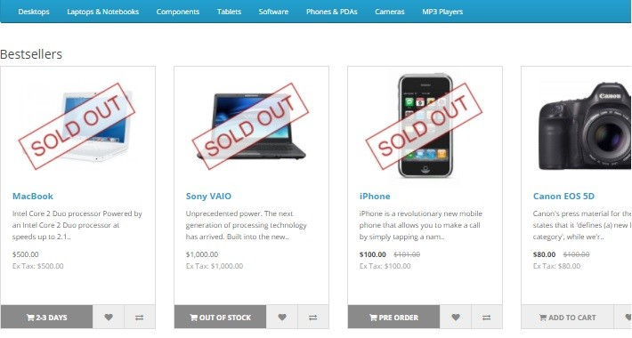 Sold Out Image with disable Add to Cart 3.x