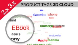 Product Tags Cloud in 3D View