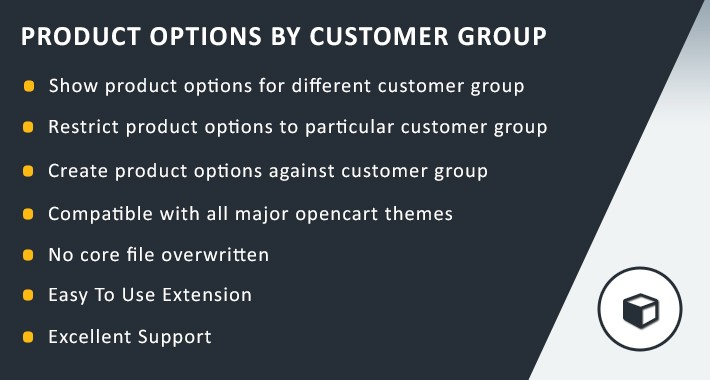 Product Options By Customer Group