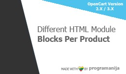 Different HTML Module Block Per Products
