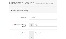 Customer group different price /  Customer group..