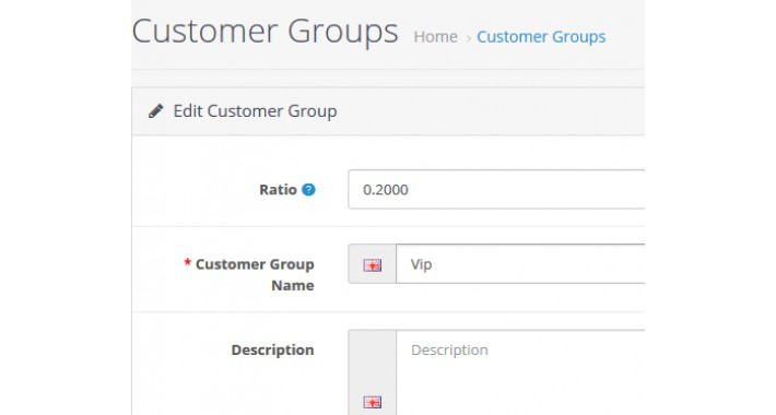 Customer group different price /  Customer group discount