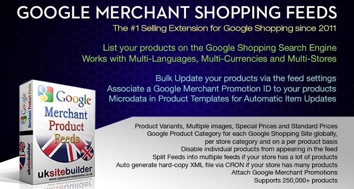 Google Merchant Shopping Feeds OC 3.x