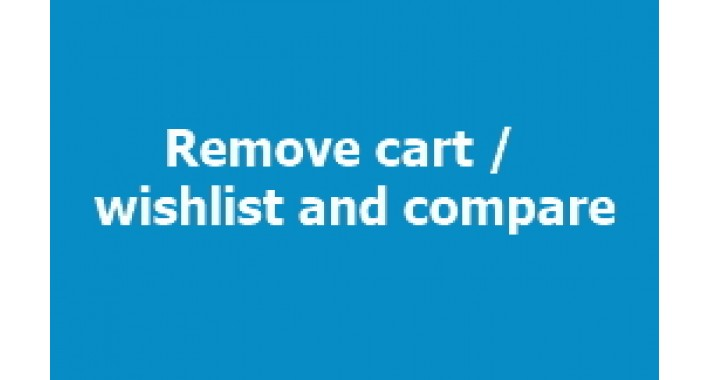 Remove Cart / Wishlist and Compare