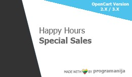 Happy Hours Special Sales