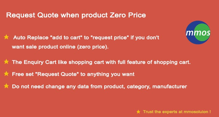 Request Quote when product Zero Price
