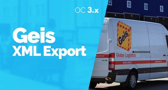 GEIS Export Expedicií SK / CZ  pre Opencart 3.x