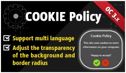 Cookie Policy for OpenCart 3