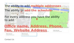 Google contact maps multiple addresses