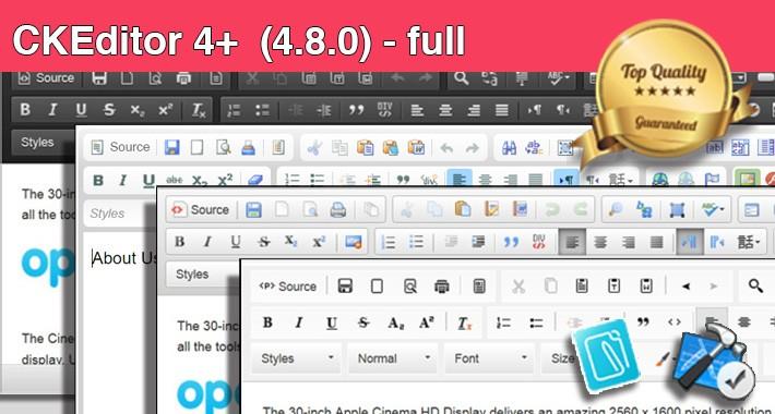 CKEditor 4+ (4.8.0) - full