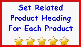 Set Related Product Heading For Each Product