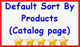 Default Sort By Products (Catalog page)
