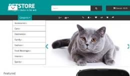 OpenCart 3 Theme Mistral Pets Azure