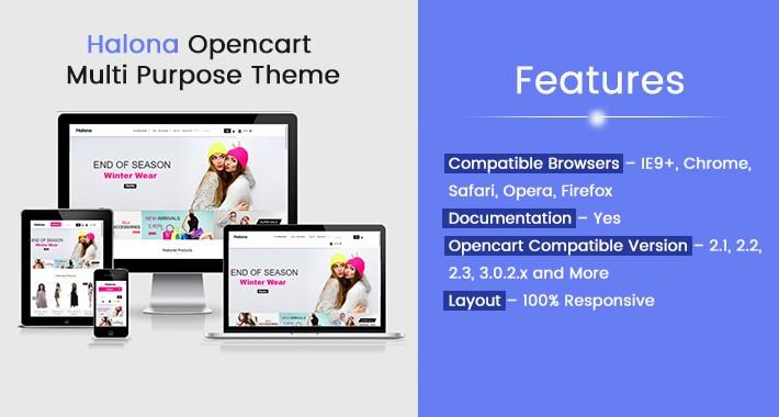 Halona Opencart Multi Purpose Opencart Responsive Theme