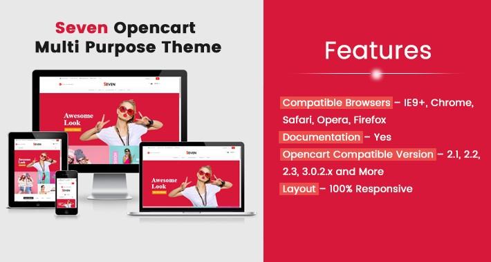 Seven Opencart Multi Purpose Opencart Responsive Theme