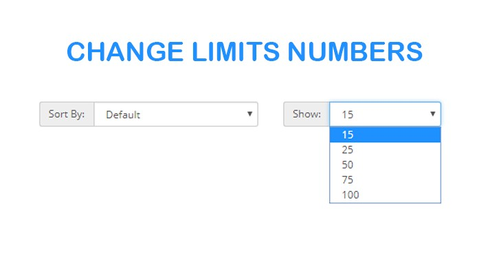 Change filter limits produts in category