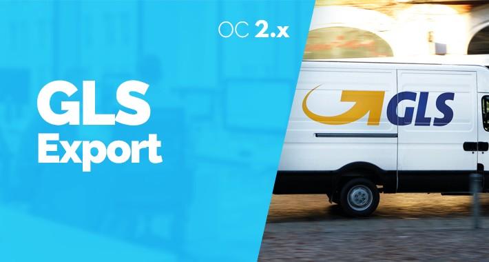 GLS Export Expedicií SK / CZ pre Opencart 2.x.x
