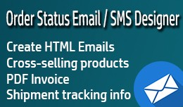 Order Status Email/SMS Template Designer PRO