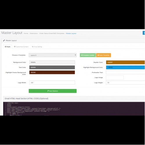 OpenCart - Order Status Email/SMS Template Designer PRO