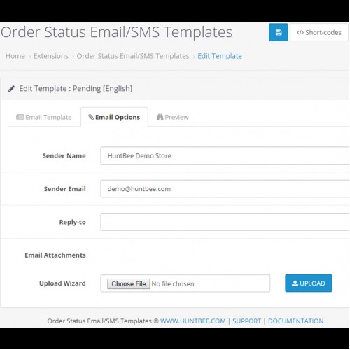 Opencart Order Status Emailsms Template Designer Pro