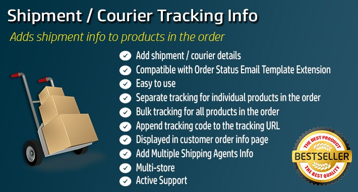 Shipment / Courier details Tracker