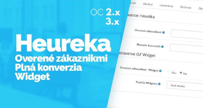 Heureka - Overené zákazníkmi, GDPR, Konverzia, Widget, OC2.x-3.x