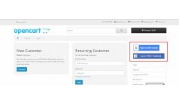 Opencart Social Login(Google/Facebook)