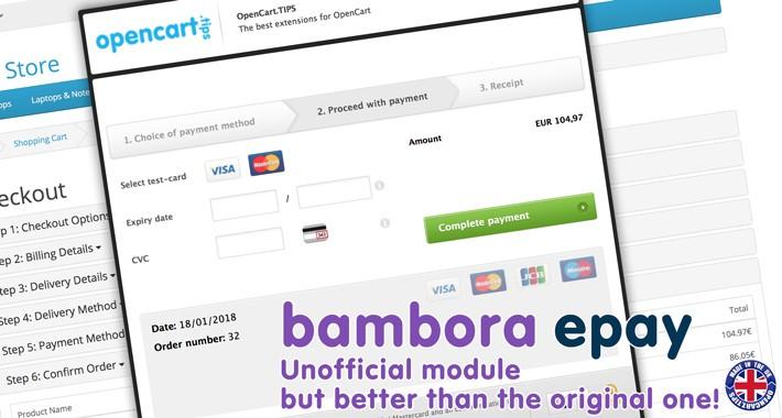 Integration ePay Bambora - ALL COUNTRIES - DK,SE,NO ✅