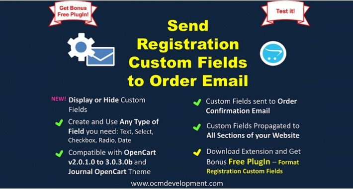Send Registration Custom Fields to Order Email
