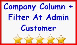 Company Column + Filter At Admin Customer