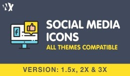 Social Media Icons - 3x, 2x, and 1.5x
