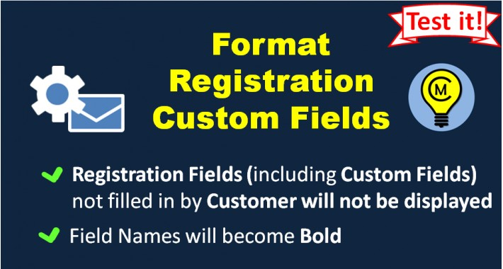 Format Registration Custom Fields