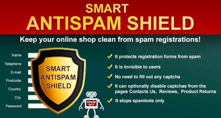 Smart Antispam Shield - Captcha free