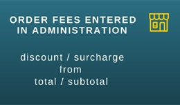 Order fees entered in administration