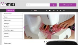 OpenCart 3 Theme Mistral House Lilac